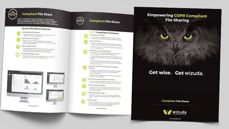 Wizuda Compliant File Share CFS Brochure