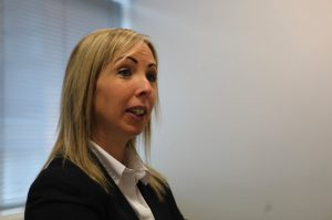 Helen Dixon, Data Protection Commissioner of Ireland addresses the room